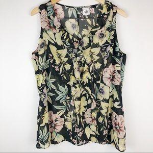 CAbi floral blouse